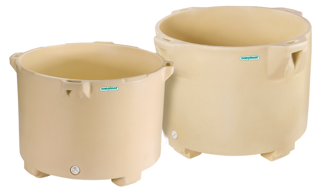 Sæplast round tubs come in two sizes
