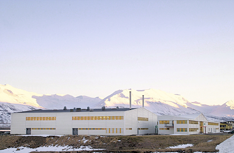 The first Sæplast factory, Dalvik Iceland